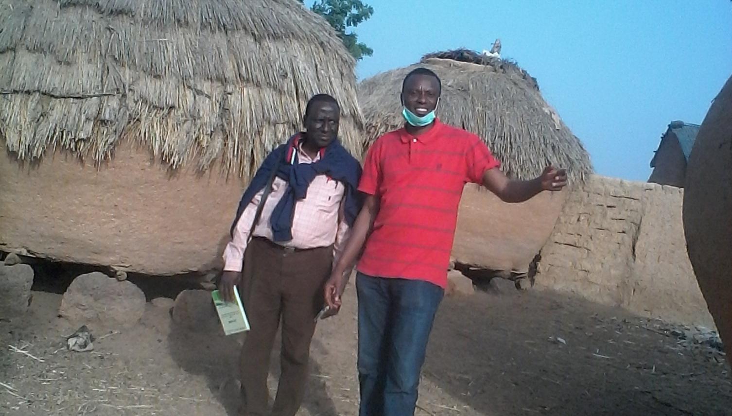 Jedima at work in the village